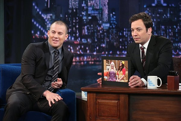 Channing Tatum and Jimmy Fallon reminisced about the actor's last appearance on the show when they dressed in drag.
