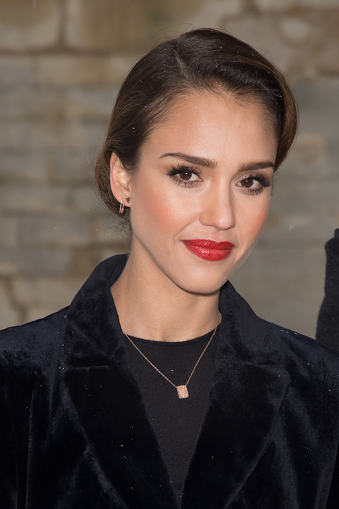 Jessica Alba also owns the same Ariel Gordon dog tag necklace ($176-$590) and debuted it at Paris Couture Fashion Week.