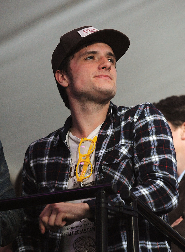 Josh Hutcherson kept it casual at the Bud Light Hotel Super Bowl party in New Orleans Friday night.
