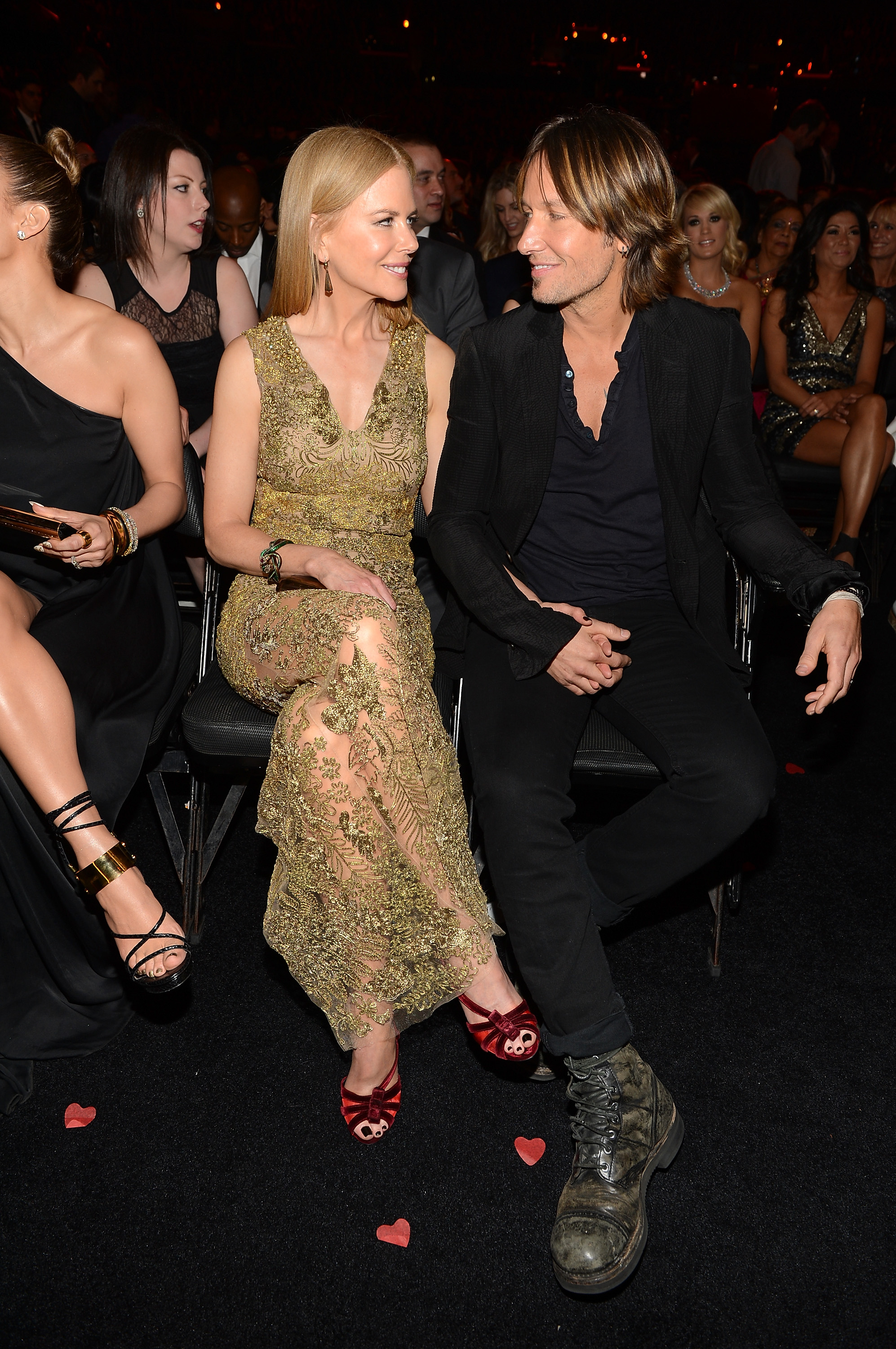 Keith Urban and Nicole Kidman shared a sweet look during the show.