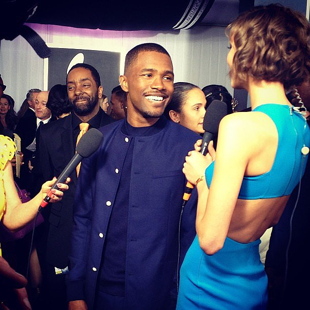 Karlie Kloss met up with Frank Ocean on the red carpet at the Grammys. Source: Instagram user KarlieKloss