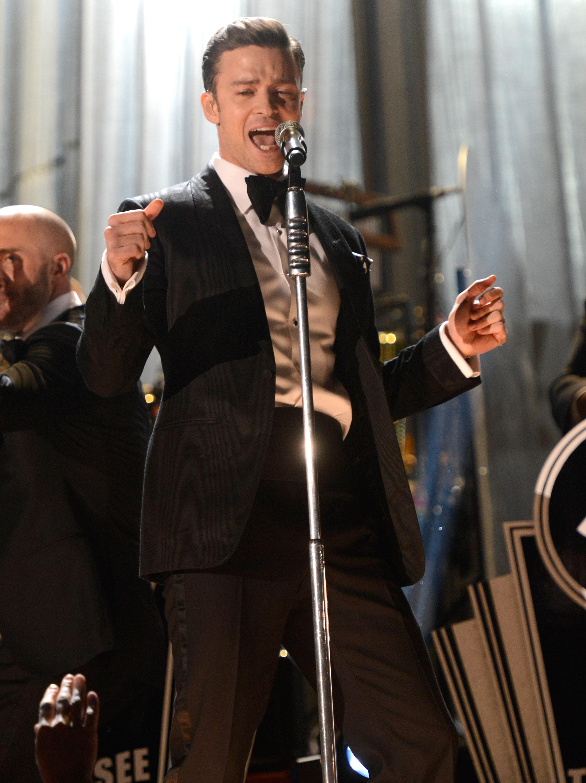 Justin Timberlake danced during his Grammys performance.