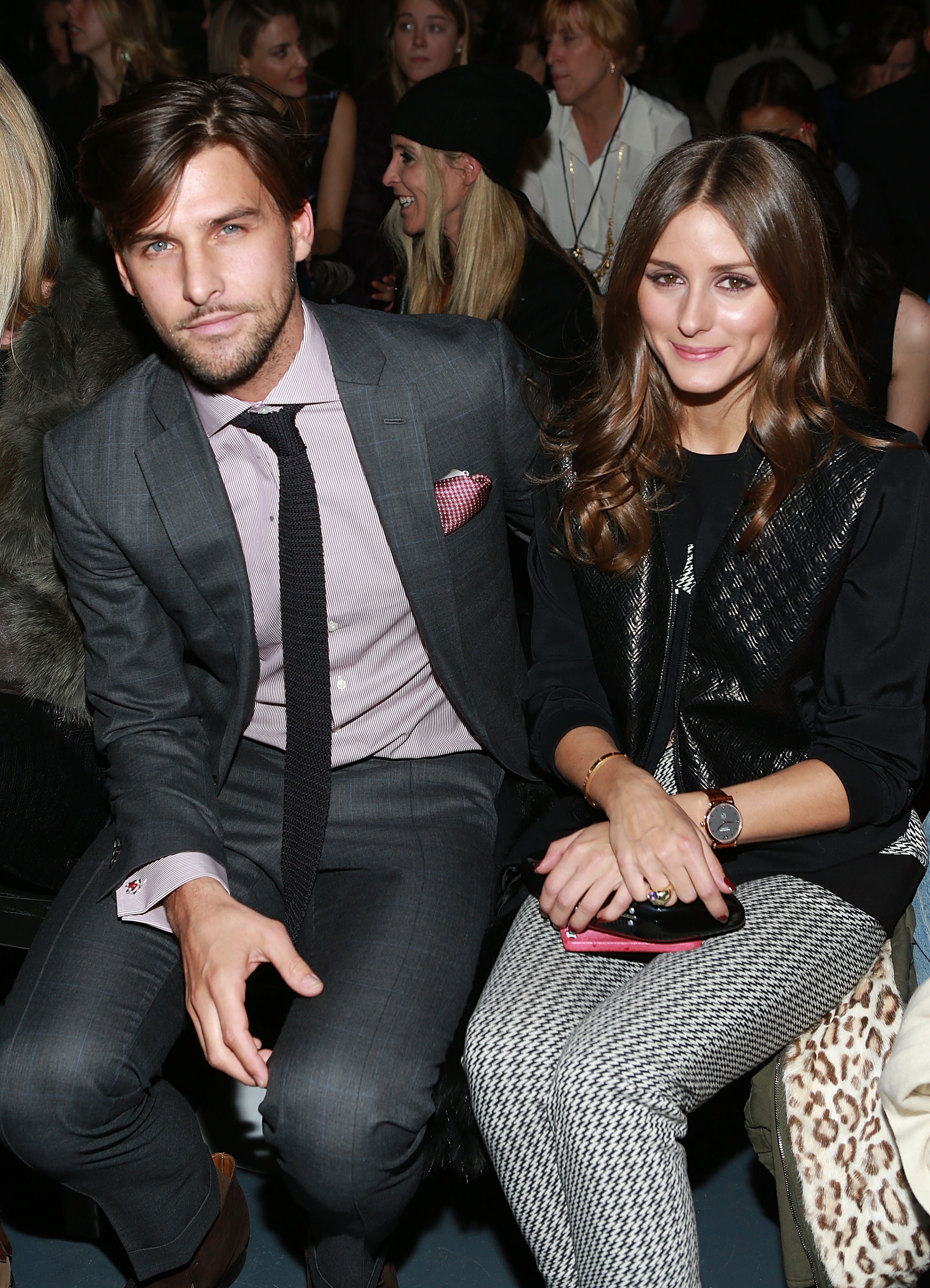 Olivia Palermo and her boyfriend, Johannes Huebl, sat front row for Tibi on Saturday.