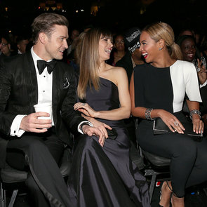 Justin Timberlake, Jessica Biel and Beyonce at 2013 Grammys