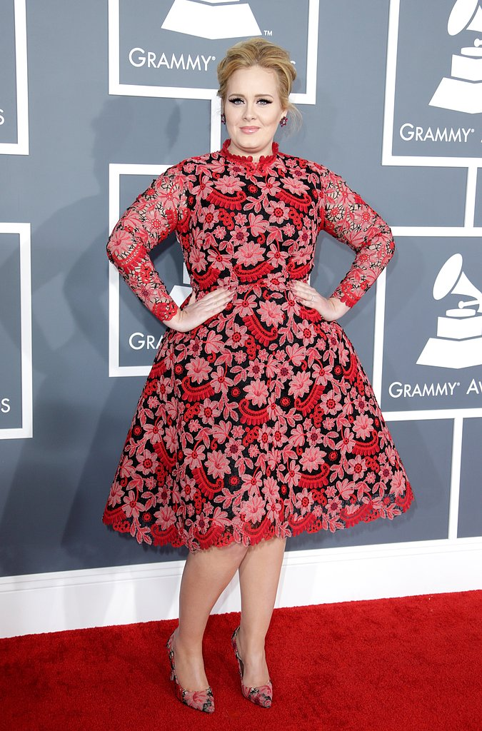 Adele Goes Pink at the Grammys
