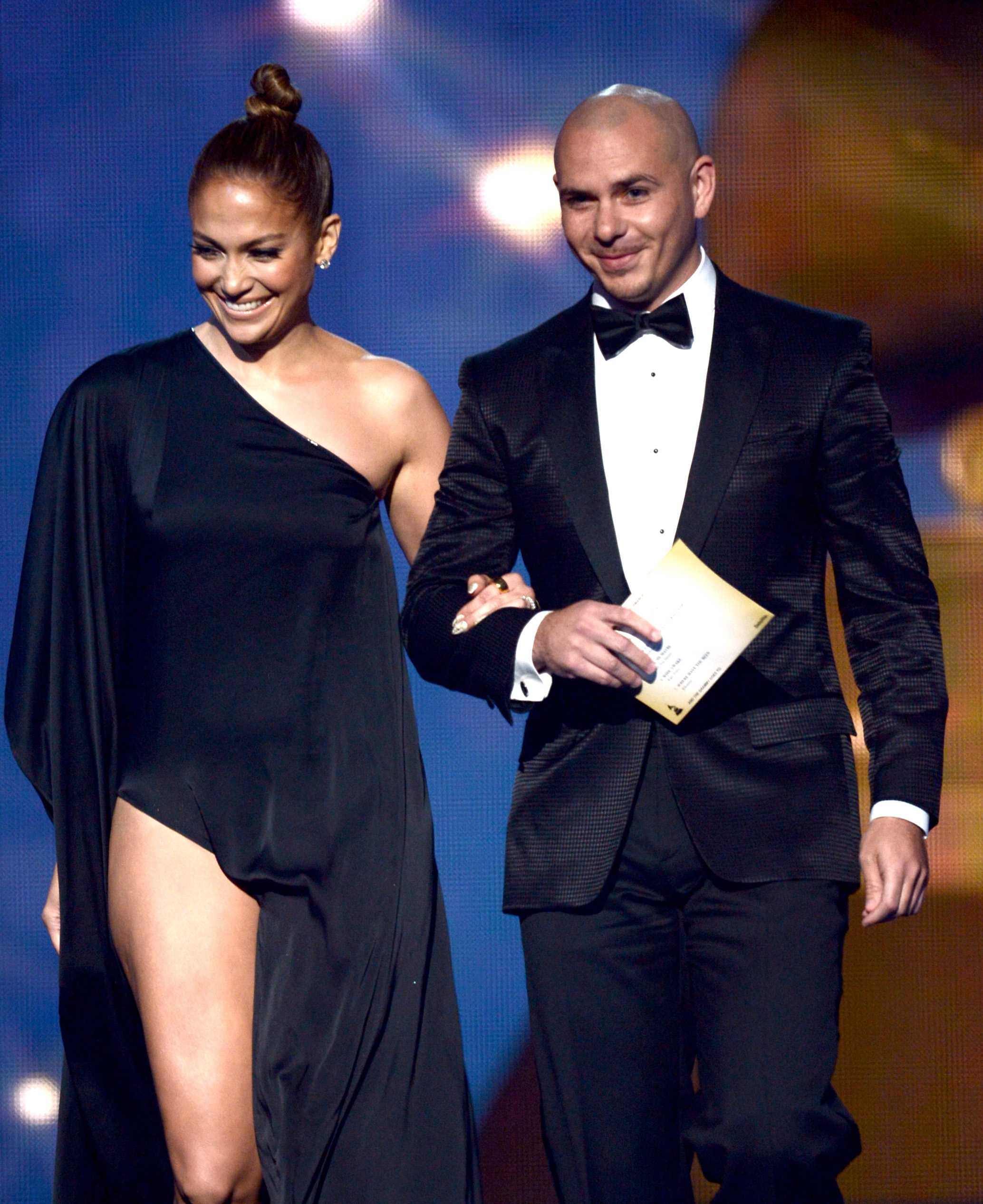 Jennifer Lopez and Pitbull stepped onto the stage
