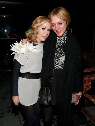 Designer Tara Subkoff and Chloë Sevigny posed together at Tara Subkoff's fashion art performance at New York Fashion Week in February.