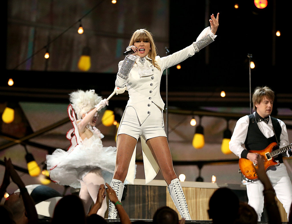 Taylor Swift opened the Grammys with a performance.