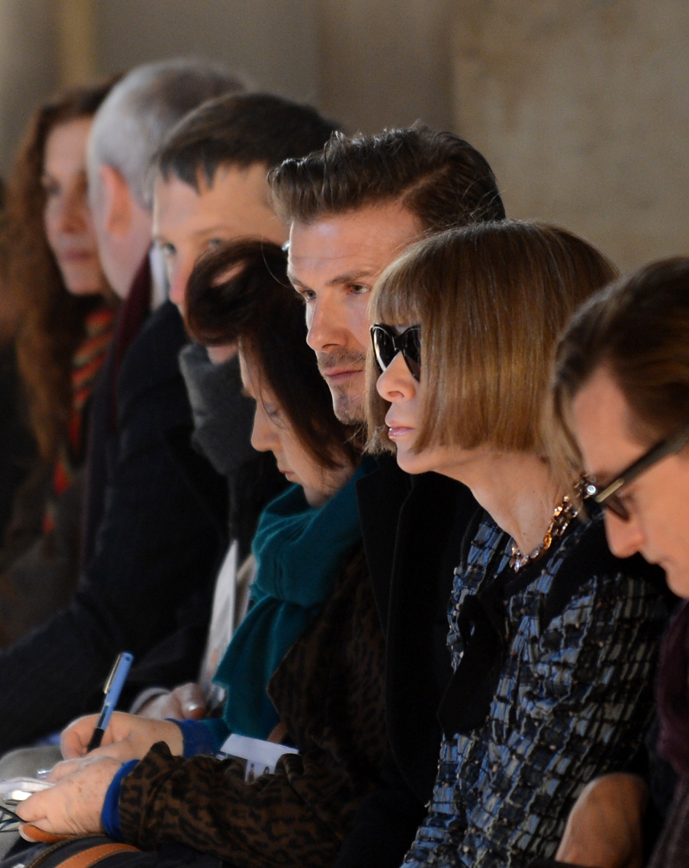 Victoria Beckham Sticks to Her Stylish NYFW Tradition With David