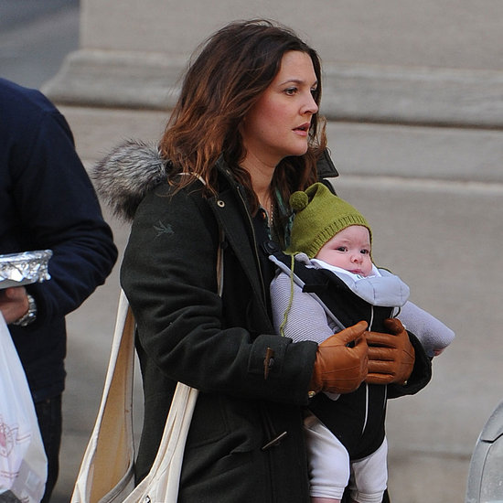 Drew Barrymore Carrying Olive in NYC