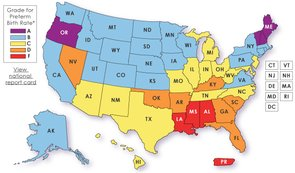 The States with the Most Premature Births