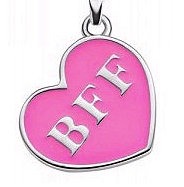 """Tween Girls Who Get """"Engaged:"""" The BFF Necklace"""