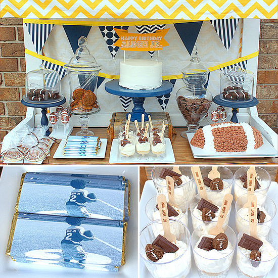 A Striped and Chevron Football Party