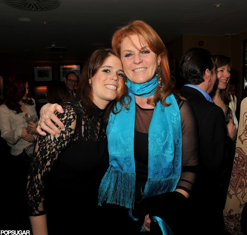 Princess Eugenie smiled for photos with her mom, Sarah Ferguson.