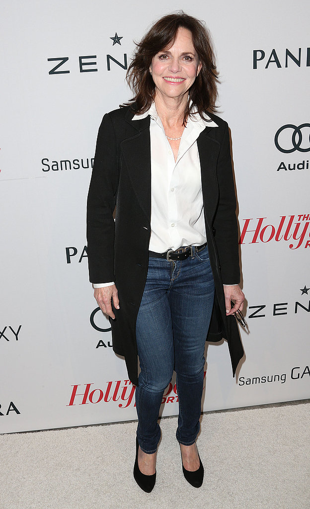 Sally Field kept things casual in jeans.