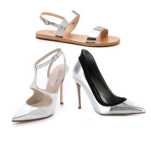 Shop the Top Ten Silver Heels, Sandals & Flats Online Now