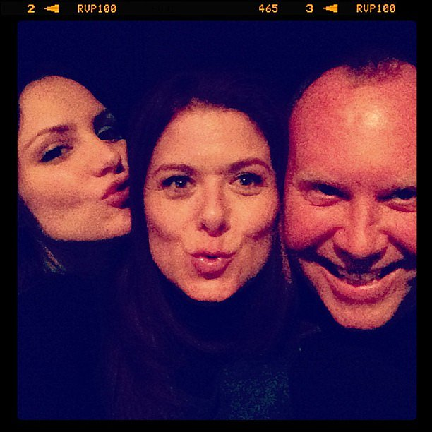 Debra Messing posed with designer Michael Kors and her Smash costar Katharine McPhee. Source: Twitter user DebraMessing