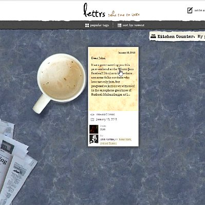 Online Letter-Writing