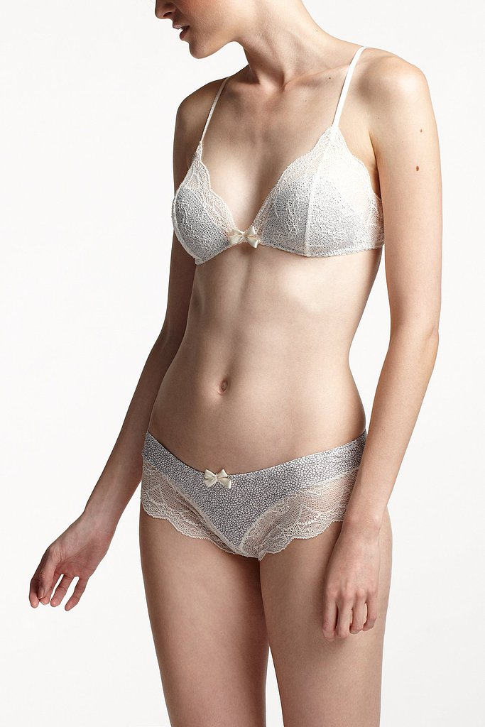 For the girl who prefers her underthings dainty and girlie (just look at the lacy scalloped edges!) — but never silly — this Eberjey scalloped mosaic set ($36) is a sweet Valentine's Day (and beyond) pairing.