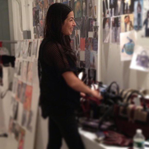 Rebecca Minkoff picked out the accessories for her upcoming Fall '13 runway show. Source: Instagram user rebeccaminkoff