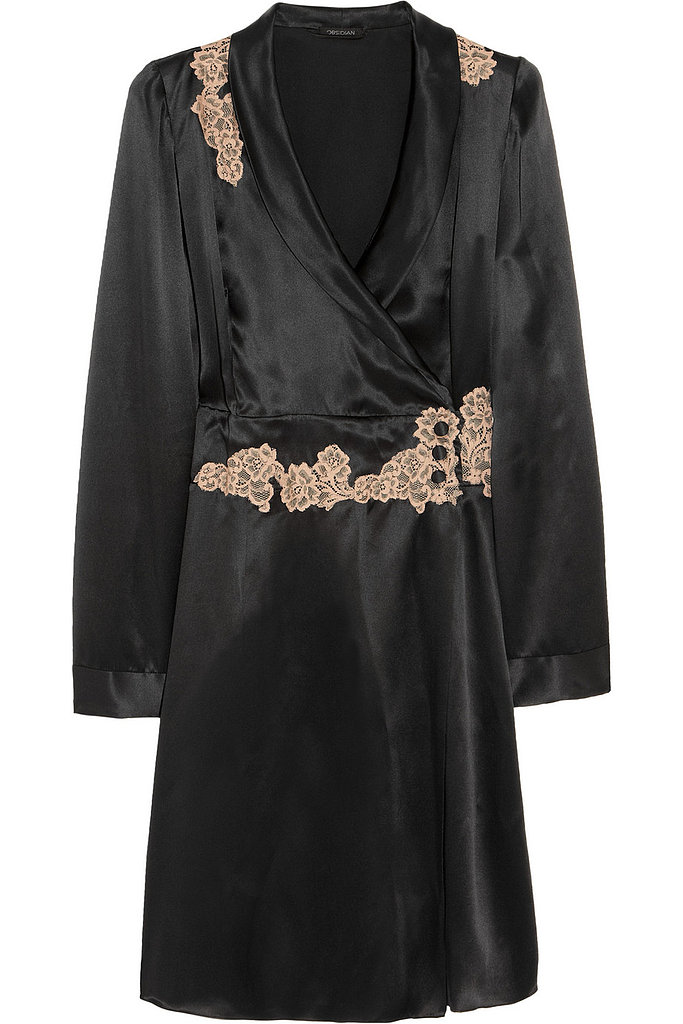 This Elle Macpherson Intimates lace-trimmed silk-satin robe ($185) is pure dark glamour; plus it really reminds us of something an Old Hollywood siren would wear too.