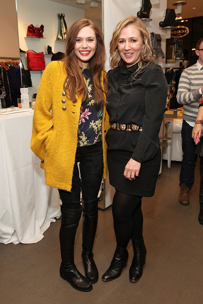Elizabeth Olsen met up with Cher Coulter at the AG Cher Coulter bash held at NYC's Scoop on Thursday.