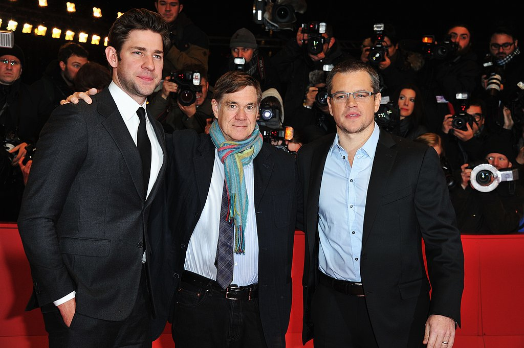 John Krasinski, Gus Van Sant, and Matt Damon arrived at the Berlin premiere of their film Friday night.