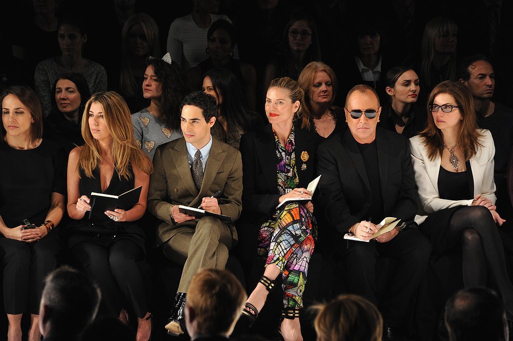 Nina Garcia, Zac Posen, Heidi Klum, and Michael Kors took the front row at the Project Runway finale show.