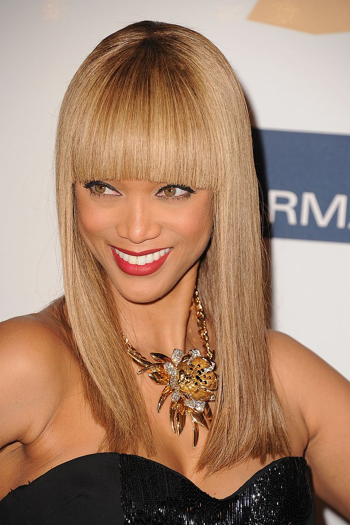 Tyra Banks at Clive Davis's Party