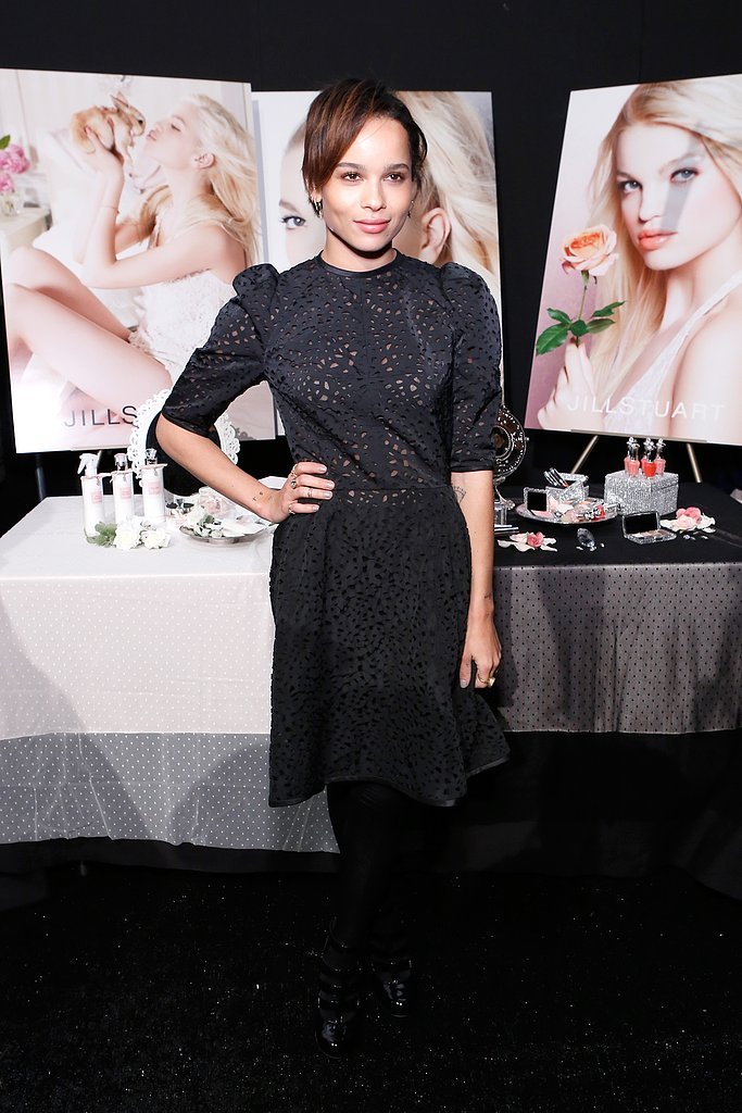 Zoe Kravitz hung out backstage at the Jill Stuart show during New York Fashion Week in February.