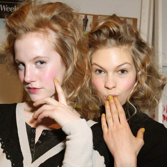 Learn How to Curl Your Hair With Foil Backstage at Lela Rose