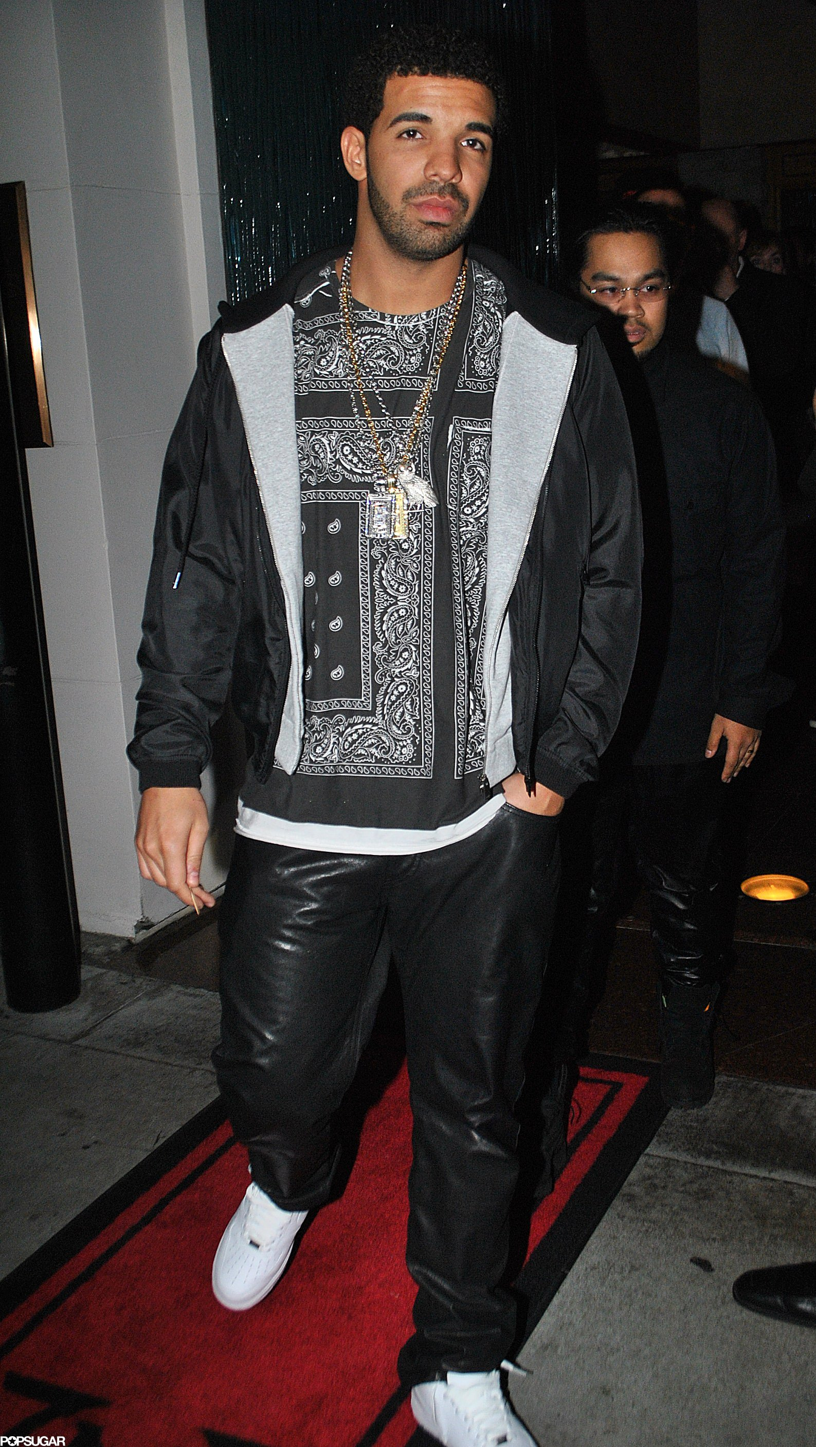 Drake attended a Grammy afterparty Sunday night in Hollywood.