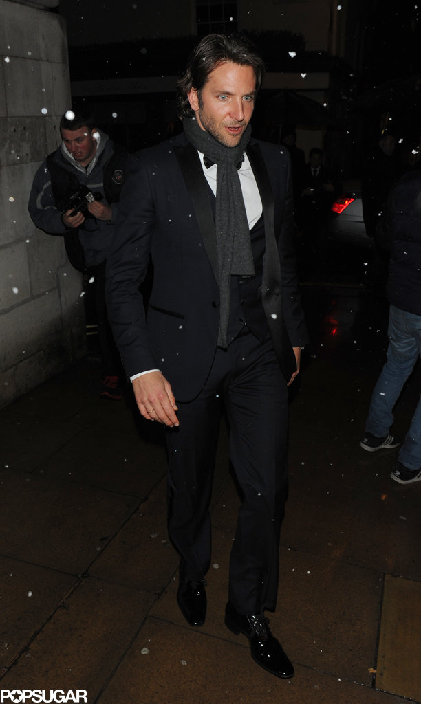 Bradley Cooper kept warm at an afterparty.