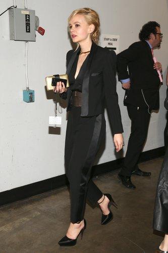 Carey Mulligan walked around backstage.