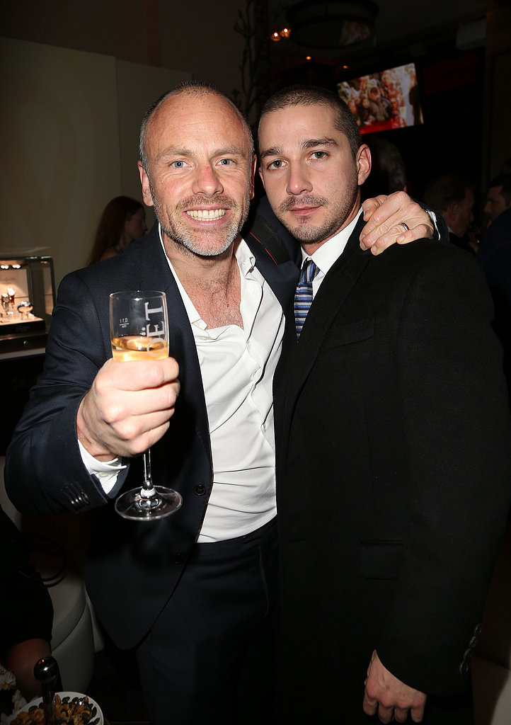 Shia LaBeouf hung out with Fredrik Bond at a reception for The Necessary Death of Charlie Countryman on Saturday in Berlin.