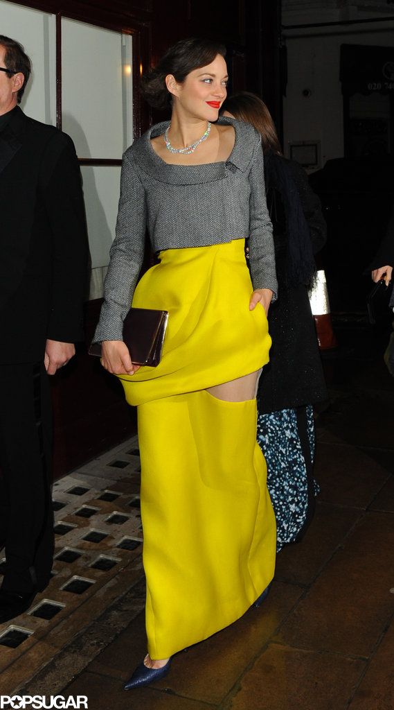 Marion Cotillard arrived at the after party.