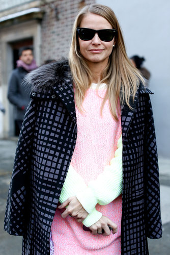 A pop of petal pink sweetened the deal on great outerwear.