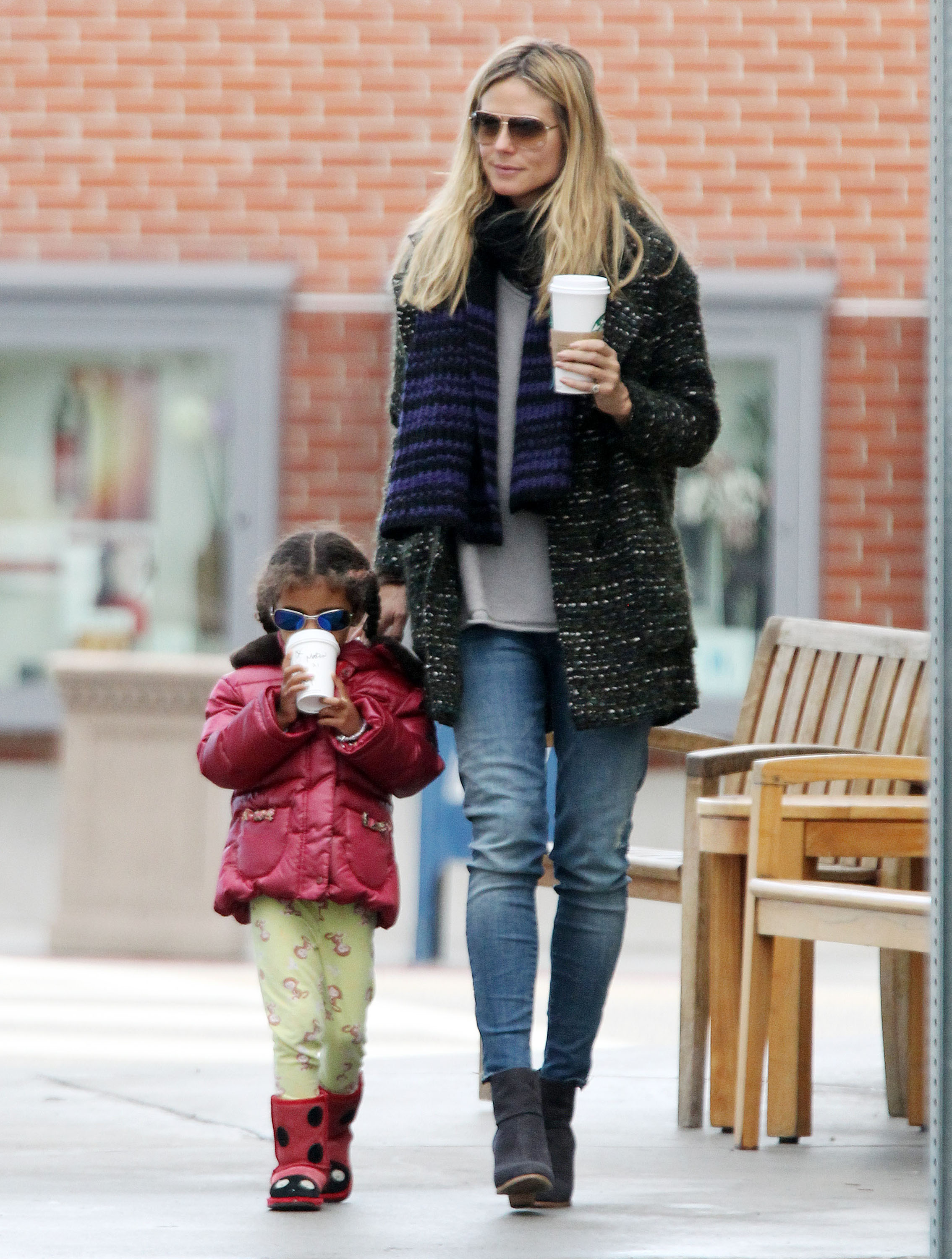 Heidi Klum was accompanied by her daughter Lou Samuel for a coffee stop in LA.
