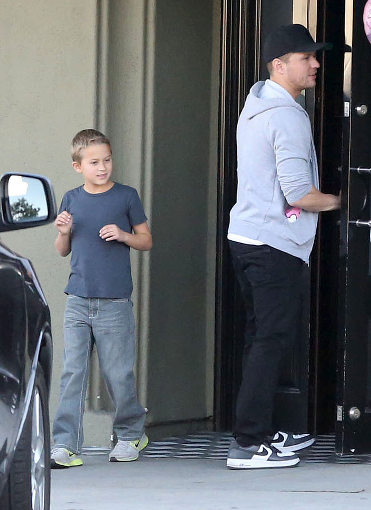 Ryan Phillippe accompanied Deacon Phillippe to a birthday party in LA.