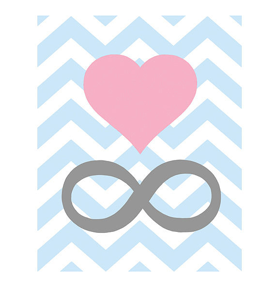 For a nod to your forever love, choose the modern chevron infinity love print ($15).