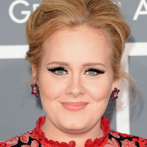 Pictures of Adele at the 2013 Grammy Awards