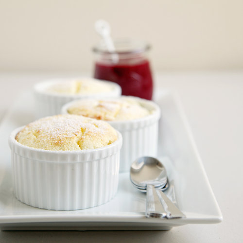 Lemon Soufflés With Raspberry Coulis