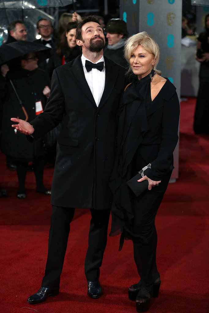 Hugh Jackman and his wife, Deborra-Lee Furness, walked the carpet at the BAFTA Awards.