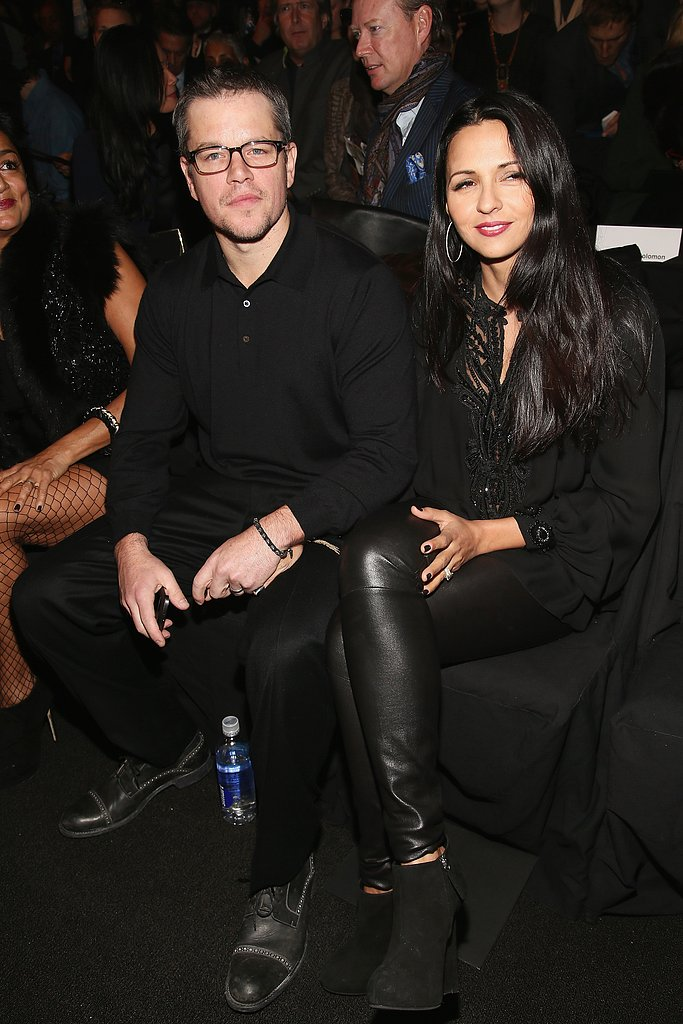 Matt and Luciana Damon sat front row at NYFW in Feb. 2013