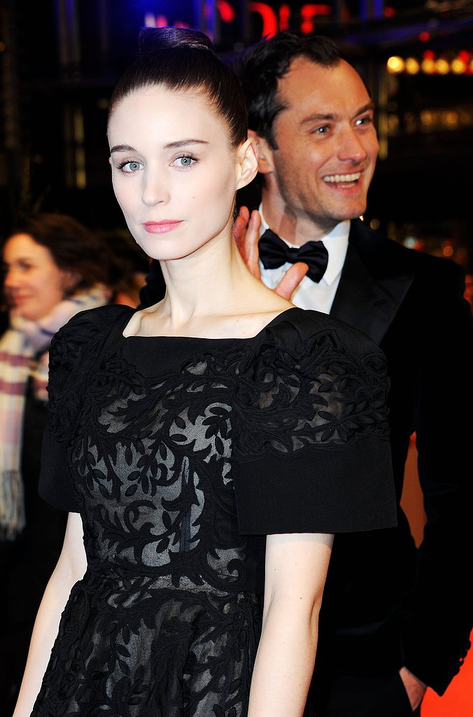 Rooney Mara posed for pictures while Jude Law waved and laughed on the red carpet Tuesday night in Berlin.