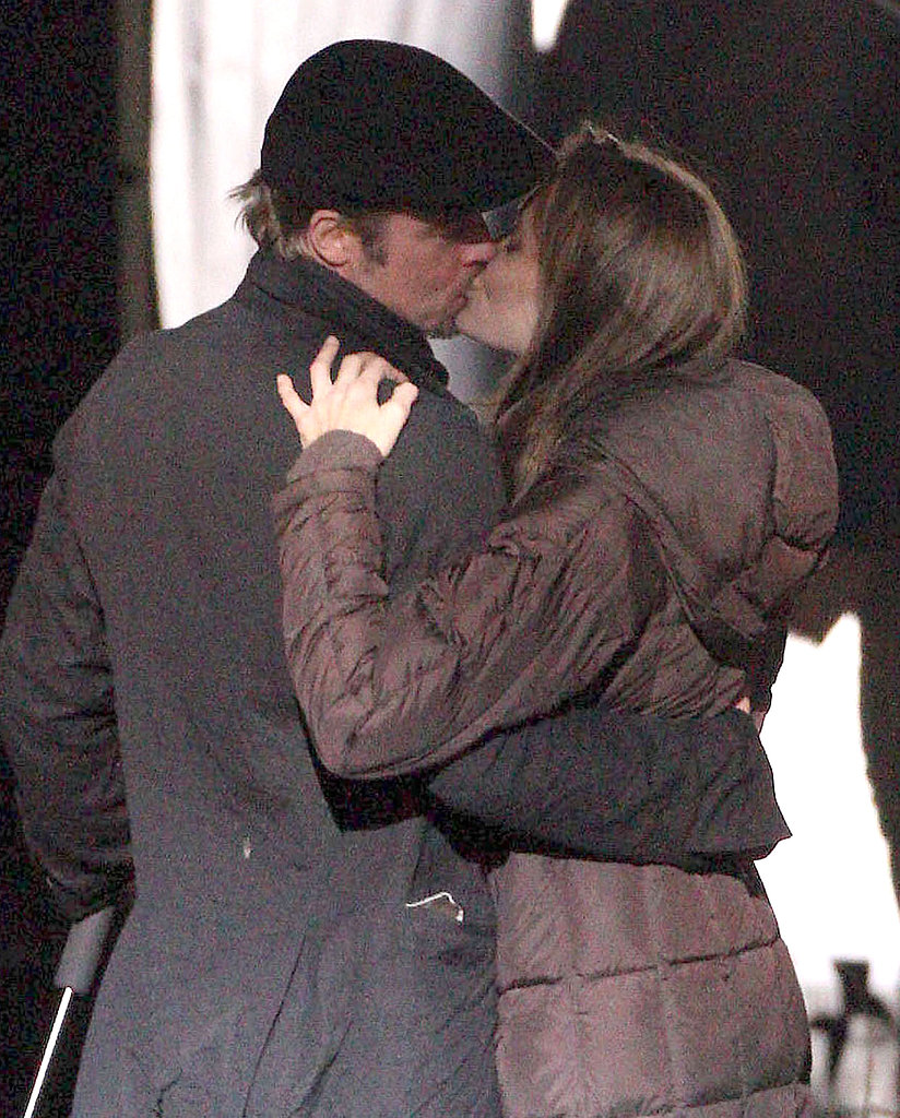 They passionately kissed on the set of her directorial debut in Budapest in October 2010.