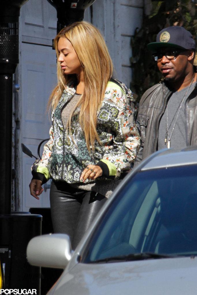 Beyonce Knowles walked in LA.