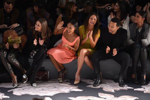 Olivia Palermo, Jada Pinkett Smith, Chrissy Teigen, John Legend, and Rachel Roy all sat in the front row during the Vera Wang show in NYC in February.