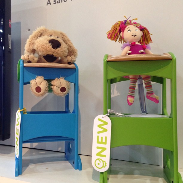 Little Partners makes a mini version of its Learning Tower — perfect for tots to put their dolls and stuffed animals in.