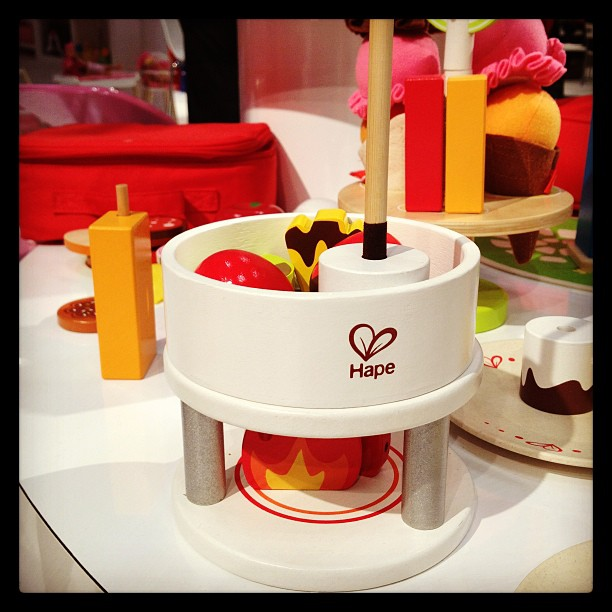 We loved Hape's wooden fondue set!